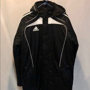 NWT Men's black and white Adidas coat/jacket. Sz S